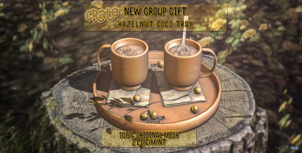 Hazelnut Coco Tray November 2019 Group Gift by crate - Teleport Hub - teleporthub.com