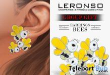 Bees Earrings November 2019 Group Gift by LERONSO skins - Teleport Hub - teleporthub.com