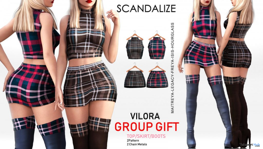 Vilora Outfit & Boots November 2019 Group Gift by SCANDALIZE - Teleport Hub - teleporthub.com