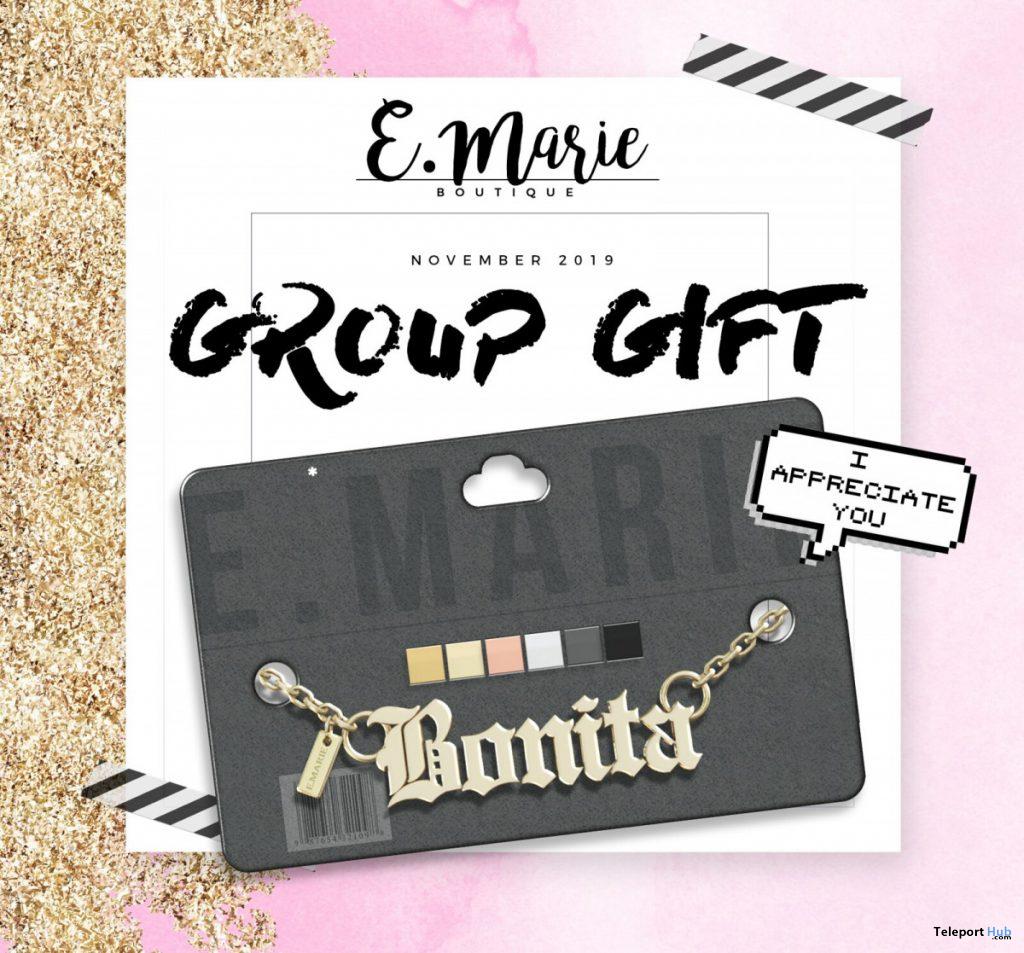 Bonita Necklace November 2019 Group Gift by e.marie- Teleport Hub - teleporthub.com