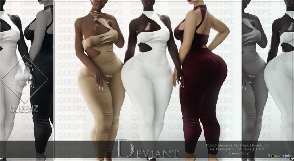 Deviant Bodysuit November 2019 Group Gift by QUEENZ - Teleport Hub - teleporthub.com