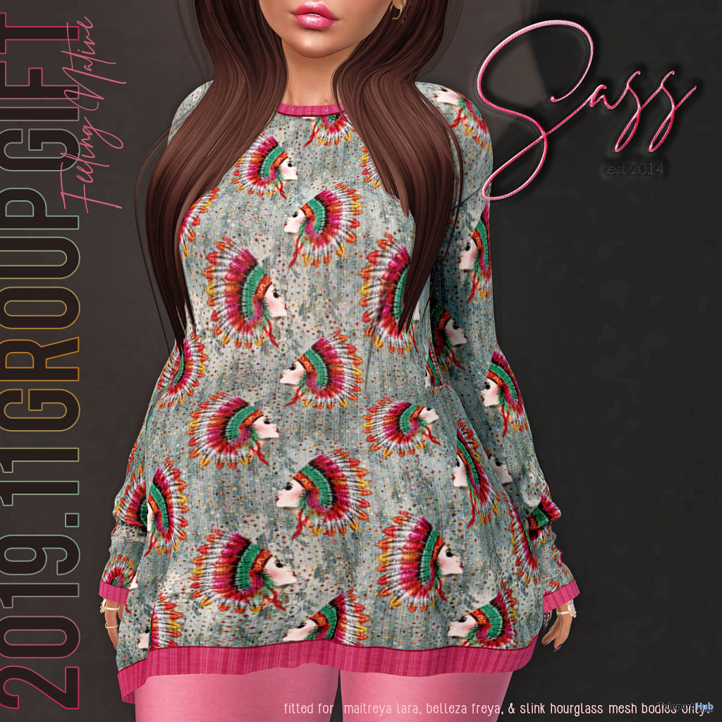 Sweater Dress November 2019 Group Gift by Sass - Teleport Hub - teleporthub.com