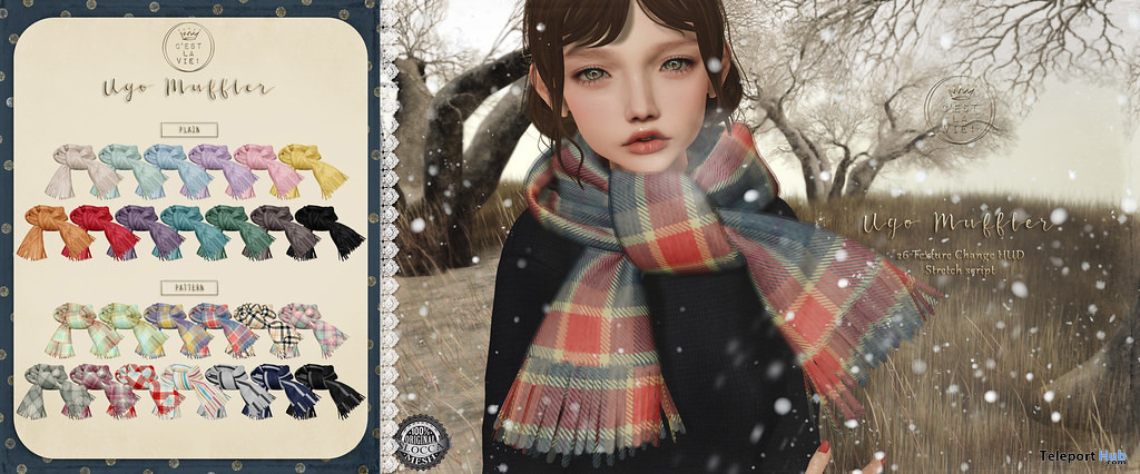 Ugo Muffler December 2019 Group Gift by C'est la vie! - Teleport Hub - teleporthub.com