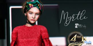 Myrtle Sweater Dress Red December 2019 Group Gift by Belle Epoque - Teleport Hub - teleporthub.com