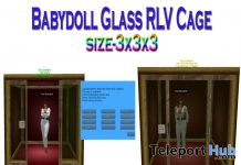 Babydoll Glass RLV Cage November 2019 Group Gift by Carissa Designs - Teleport Hub - teleporthub.com
