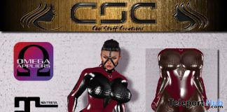 Latexsuit 03 Bordeaux Dark November 2019 Group Gift by CSC Enterprises - Teleport Hub - teleporthub.com