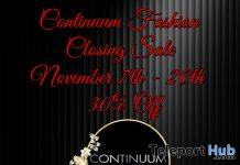 Continuum Fashion Closing Sale - Teleport Hub - teleporthub.com