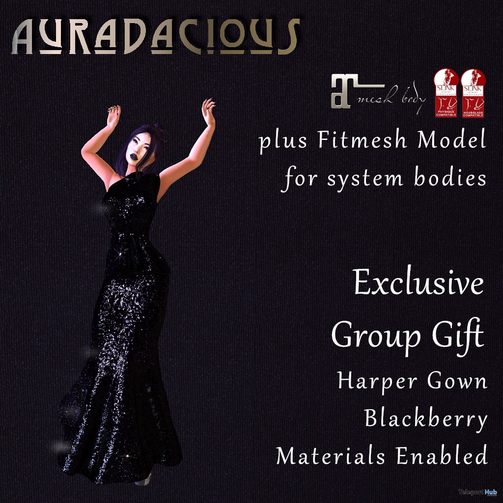The Harper Gown November 2019 Group Gift by Auradacious - Teleport Hub - teleporthub.com
