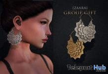 Lotus Earrings November 2019 Group Gift by {Zaara} - Teleport Hub - teleporthub.com