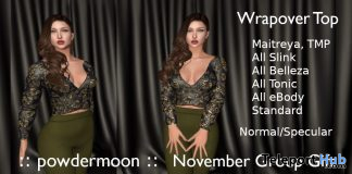 Wrapover Top November 2019 Group Gift by powdermoon - Teleport Hub - teleporthub.com
