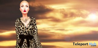 Paris Leopard Female Coat December 2019 Group Gift by Vips Creations - Teleport Hub - teleporthub.com