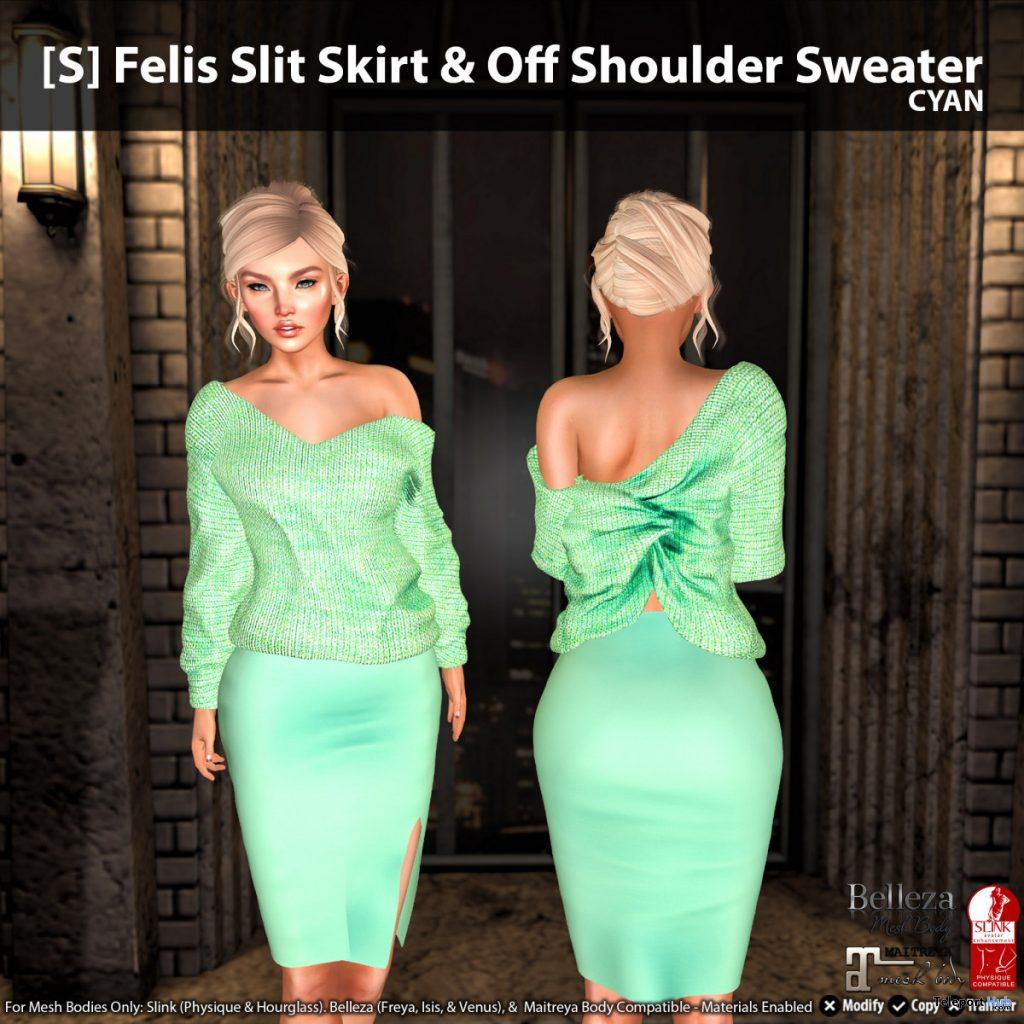 New Release: [S] Felis Slit Skirt & Off Shoulder Sweater by [satus Inc] - Teleport Hub - teleporthub.com