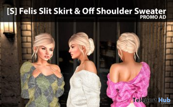 New Release: [S] Felis Slit Skirt & Off Shoulder Sweater by [satus Inc] - Teleport Hub - teleporthub.com
