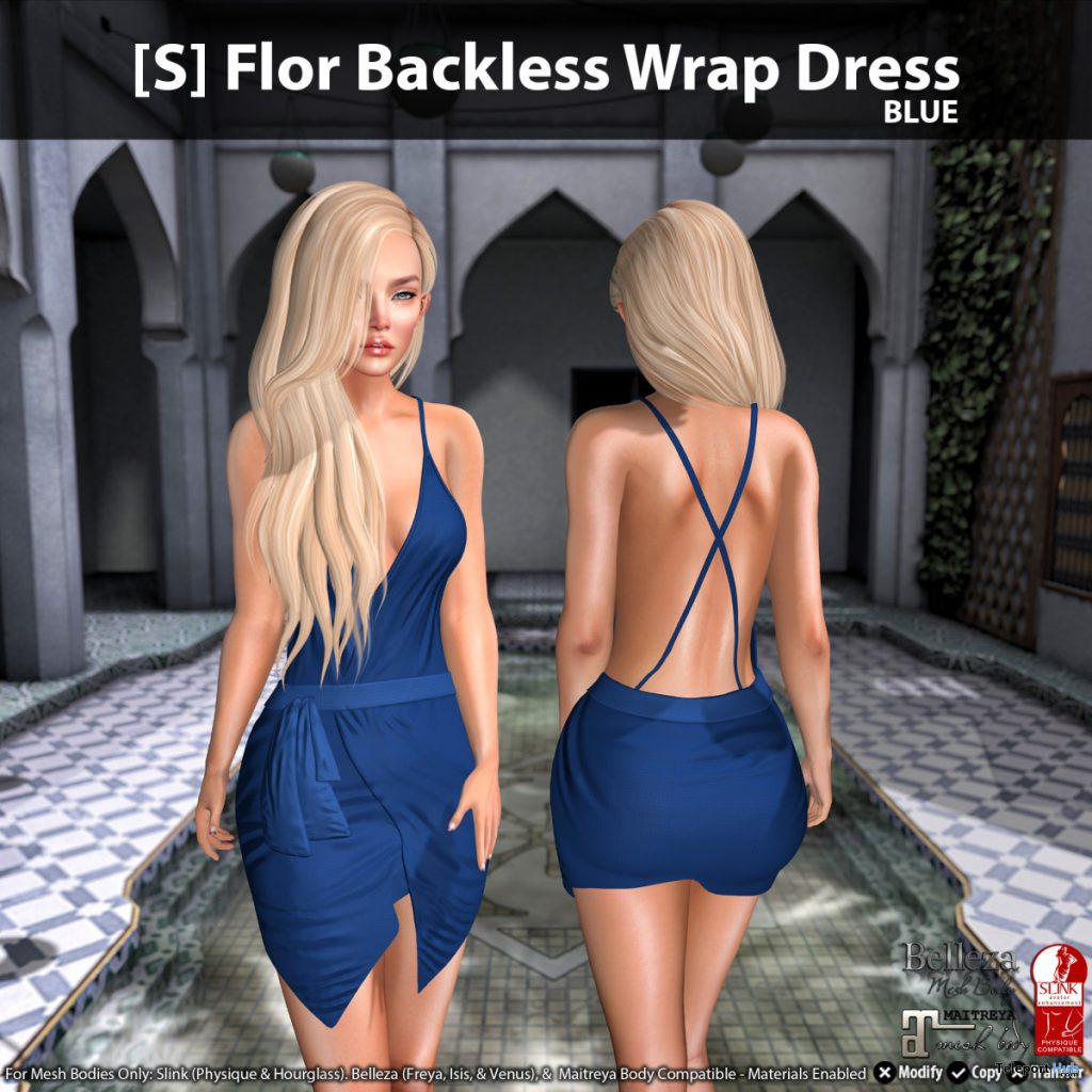 New Release: [S] Flor Backless Wrap Dress by [satus Inc] - Teleport Hub - teleporthub.com