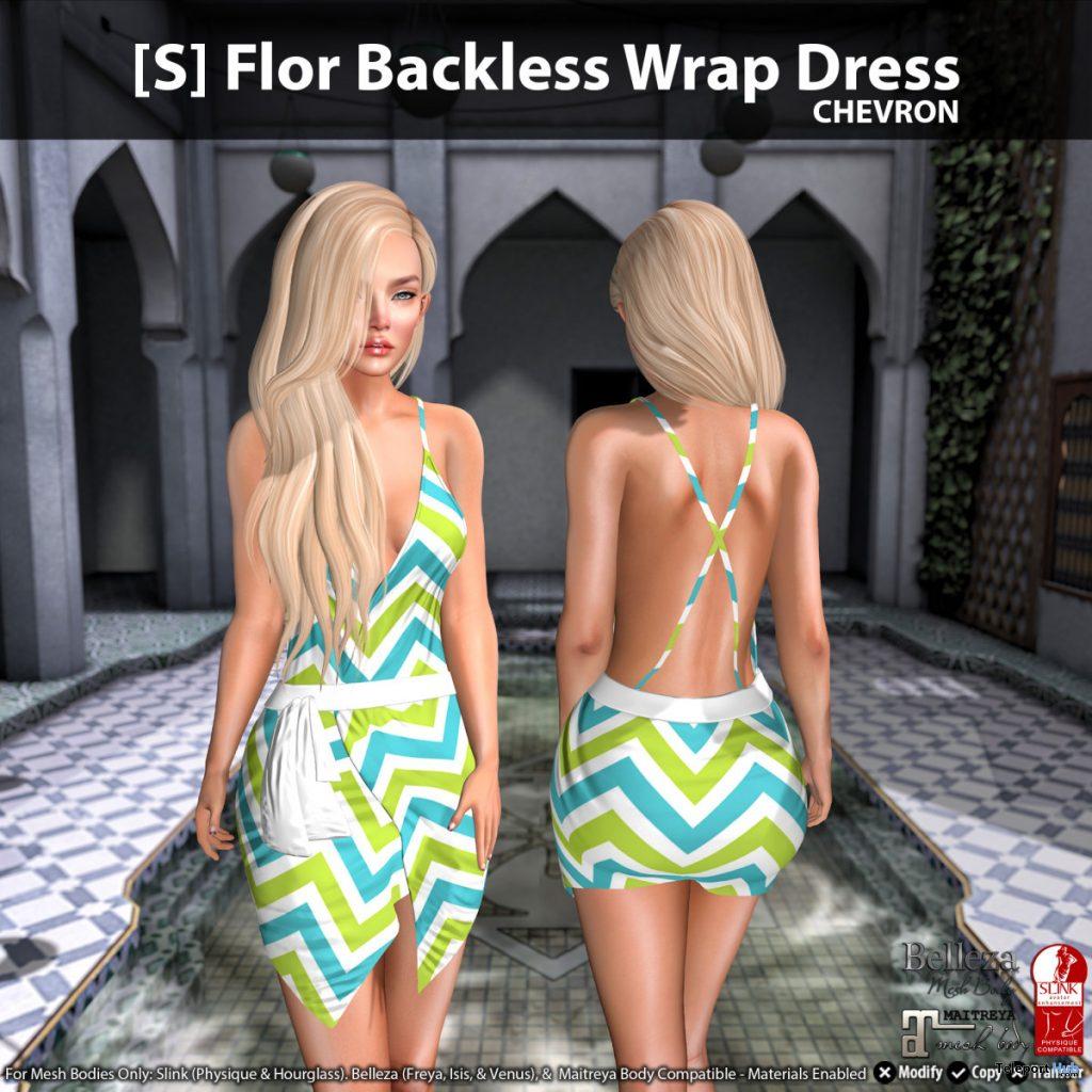 New Release: [S] Flor Backless Wrap Dress by [satus Inc] - Teleport Hub - teleporthub.com