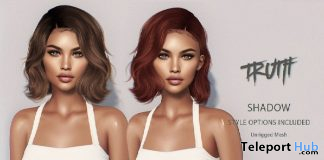 Shadow Hair Fatpack With Style HUD Group Gift by TRUTH HAIR - Teleport Hub - teleporthub.com