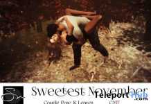 Sweetest November Couple Pose & Fall Fantasy Single Pose November 2019 Group Gift by Something New - Teleport Hub - teleporthub.com