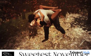 Sweetest November Couple Pose & Fall Fantasy Single Pose November 2019 Group Gift by Something New - Teleport Hub - teleporthub.com