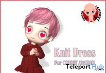 Knit Dress For CHIBIT Avatar December 2019 Group Gift by Korpokkur House - Teleport Hub - teleporthub.com