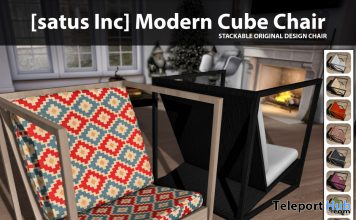 New Release: Modern Cube Chair by [satus Inc] - Teleport Hub - teleporthub.com