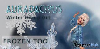 Frozen Too Dress December 2019 Group Gift by Auradacious - Teleport Hub - teleporthub.com