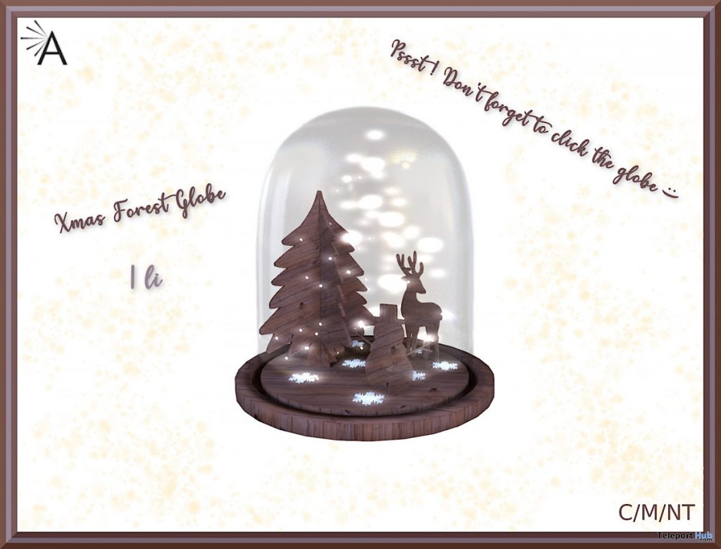 Xmas Forest Globe SaNaRae Event December 2019 Group Gift by Almita - Teleport Hub - teleporthub.com