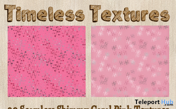 20 Seamless Shimmy Coral Pink December 2019 Group Gift by Timeless Textures - Teleport Hub - teleporthub.com