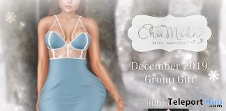 Jessie Winter Gown December 2019 Group Gift by ChicModa - Teleport Hub - teleporthub.com