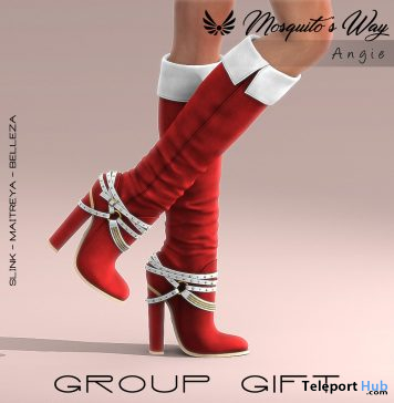 Angie Boots Christmas Edition December 2019 Group Gift by Mosquito's Way - Teleport Hub - teleporthub.com