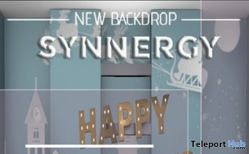 Happy Holiday Backdrop December 2019 Group Gift by Synnergy - Teleport Hub - teleporthub.com