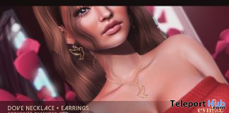 Dove Set Necklace & Earrings December 2019 Group Gift by [Cynful] Clothing & Co. - Teleport Hub - teleporthub.com