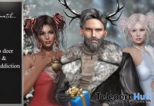 No Deer & No Addiction Hair Christmas 2019 Group Gift by No Match - Teleport Hub - teleporthub.com