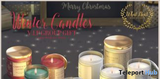 Winter Candles December 2019 Group Gift by {what next} - Teleport Hub - teleporthub.com