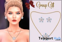 Snowflake Jewelry Set December 2019 Group Gift by Hilly Haalan - Teleport Hub - teleporthub.com