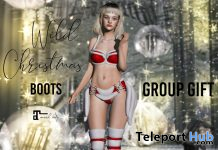 Wild Christmas Boots Christmas 2019 Group Gift by Belle Epoque - Teleport Hub - teleporthub.com