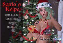 Santa's Helper Lingerie December 2019 Group Gift by Blacklace - Teleport Hub - teleporthub.com