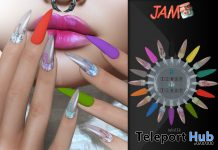 Winter Nails December 2019 Group Gift by JAM - Teleport Hub - teleporthub.com