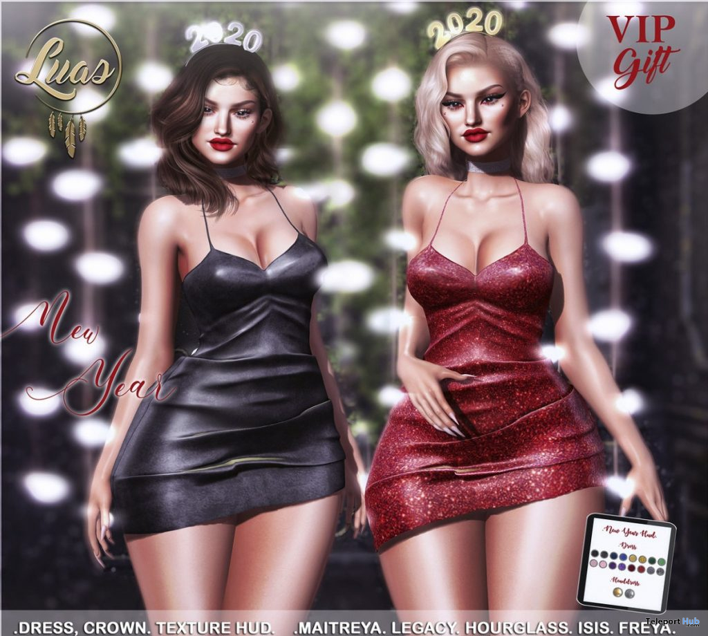 New Year Dress December 2019 Group Gift by Luas - Teleport Hub - teleporthub.com