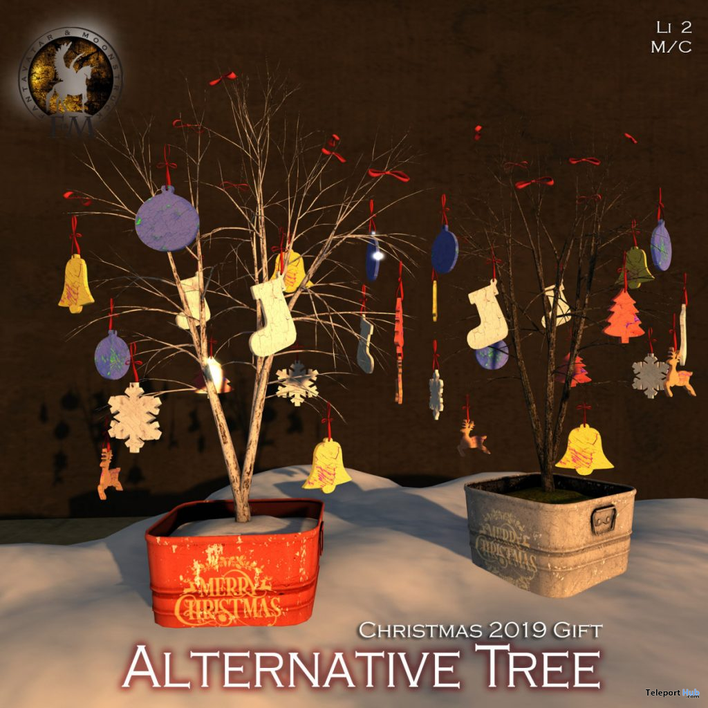 Snowy Alternative Christmas Tree Drunken Elf Fest 2019 Gift by F&M - Teleport Hub - teleporthub.com