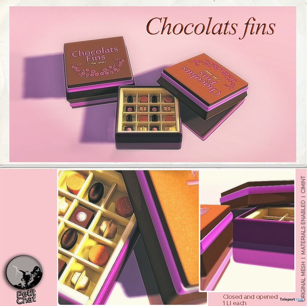 Chocolate Fins December 2019 Group Gift by Petit Chat - Teleport Hub - teleporthub.com