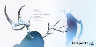 Antlers With Snow December 2019 Group Gift by cinphul - Teleport Hub - teleporthub.com