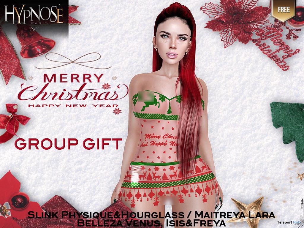 Christmas Mini Dress December 2019 Group Gift by HYPNOSE - Teleport Hub - teleporthub.com