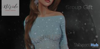 Dina Dress December 2019 Group Gift by Nerido - Teleport Hub - teleporthub.com