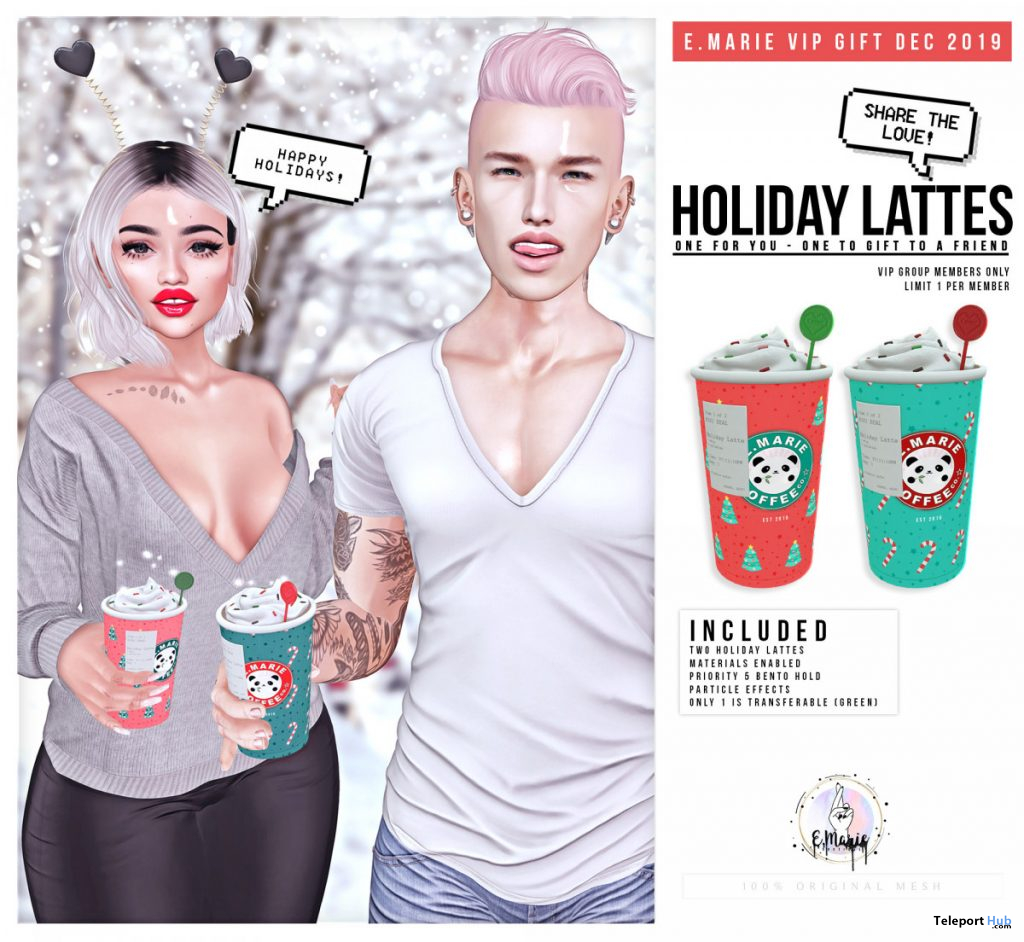 Holiday Lattes December 2019 Group Gift by e.marie - Teleport Hub - teleporthub.com