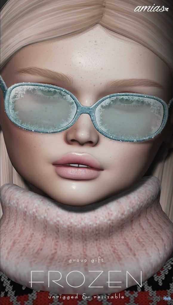 Frozen Glasses December 2019 Group Gift by amias - Teleport Hub - teleporthub.com