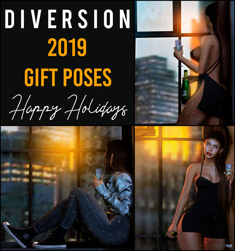 Happy Holidays Poses December 2019 Group Gift by Diversion - Teleport Hub - teleporthub.com
