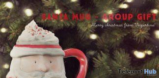 Santa Hot Chocolate Mug Christmas 2019 Group Gift by vespertine - Teleport Hub - teleporthub.com