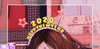 2020 Happy New Year Headband December 2019 Group Gift by VO.Z - Teleport Hub - teleporthub.com