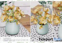 Lovely Yellow Flowers Vase January 2020 Group Gift by Ariskea - Teleport Hub - teleporthub.com