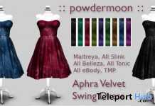 Aphra Velvet Swing Dress Promo by powdermoon - Teleport Hub - teleporthub.com